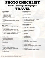 Photo Travel Checklist